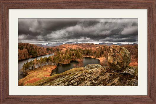 Grey Skies Over Tarn Hows - Framed Print