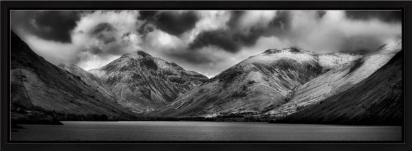 Great Gable and Lingmell - Black White Modern Print