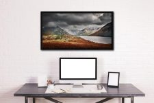 Winter Colours of Wast Water - Black oak floater frame with acrylic glazing on Wall