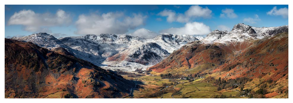 Great Langdale Valley in Winter - Lake District Print