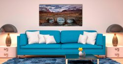 Glen Sligachan Bridge - Print Aluminium Backing With Acrylic Glazing on Wall