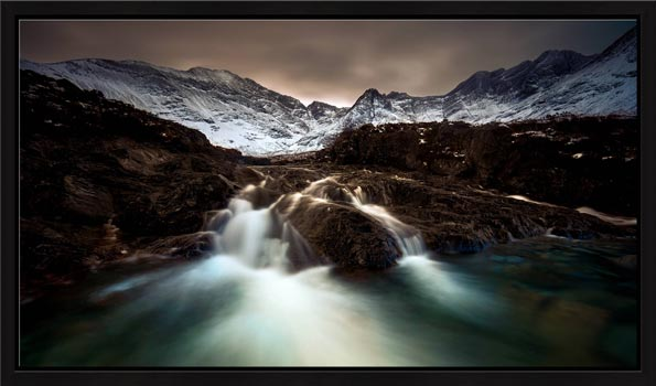 The Dark Fairy Pools - Modern Print