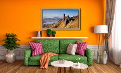 Old Man of Storr Panorama - Oak floater frame with acrylic glazing on Wall