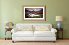 Fairy Pools Swirl - Framed Print with Mount on Wall
