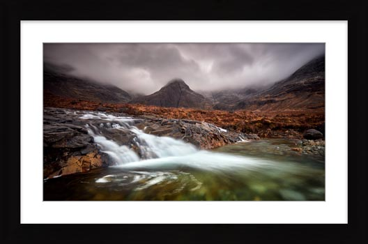 Fairy Pools Swirl - Framed Print with Mount