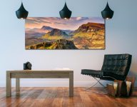 Trotternish Mountains Isle of Skye - Print Aluminium Backing With Acrylic Glazing on Wall