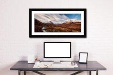 Glen Sligachan Isle of Skye - Framed Print with Mount on Wall