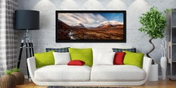 Glen Sligachan Isle of Skye - Black oak floater frame with acrylic glazing on Wall