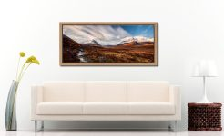 Glen Sligachan Isle of Skye - Oak floater frame with acrylic glazing on Wall
