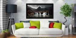 Fairy Pools Waterfall - Black oak floater frame with acrylic glazing on Wall