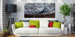 Black Cuillins Snow Fall - Print Aluminium Backing With Acrylic Glazing on Wall