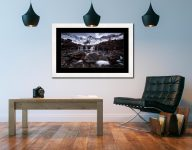 Fairy Pools Rocks Mountains Snow - Framed Print with Mount on Wall