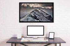 Marsco Isle of Skye - Black oak floater frame with acrylic glazing on Wall