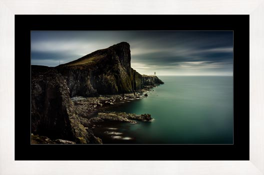 Neist Point Lighthouse Green - Framed Print