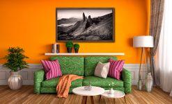 The Storr Isle of Skye - Walnut floater frame with acrylic glazing on Wall