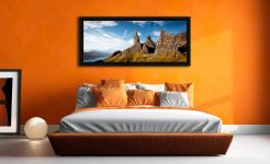 The Old Man of Storr and Needle Rock - Black oak floater frame with acrylic glazing on Wall