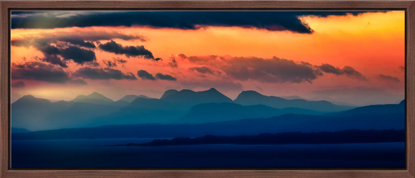 Dawn Over Mountains of Wester Ross - Modern Print