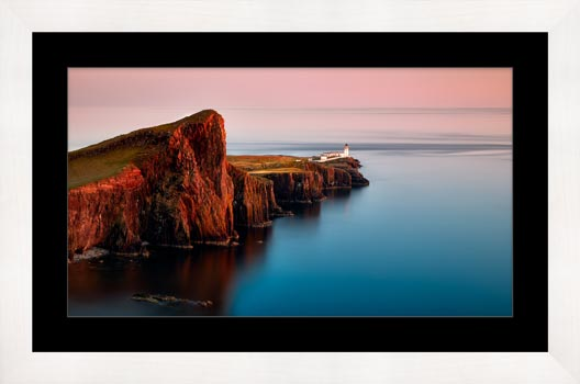 Calmness at Neist Point Lighthouse - Framed Print