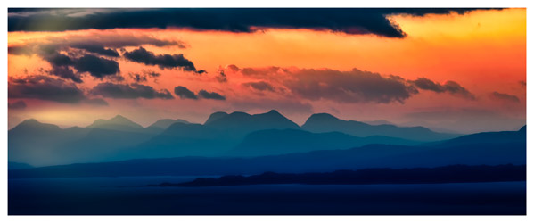 Dawn Over Mountains of Wester Ross - Isle of Skye Print