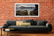 Cuillin Mountains From Elgol - White Maple floater frame with acrylic glazing on Wall