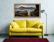 Cuillin Mountains From Elgol - Oak floater frame with acrylic glazing on Wall