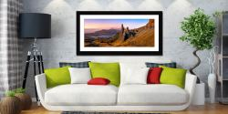 Old Man Storr Golden Light - Framed Print with Mount on Wall