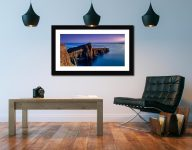 Golden Cliffs of Neist Point - Framed Print with Mount on Wall