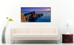 Golden Cliffs of Neist Point - Print Aluminium Backing With Acrylic Glazing on Wall