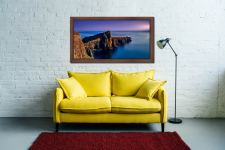 Golden Cliffs of Neist Point - Walnut floater frame with acrylic glazing on Wall