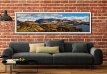 Keswick and Skiddaw Panorama - White Maple floater frame with acrylic glazing on Wall