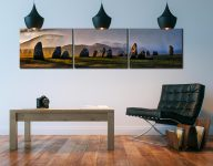 Sunlight and Showers at Castlerigg - 3 Panel Canvas on Wall