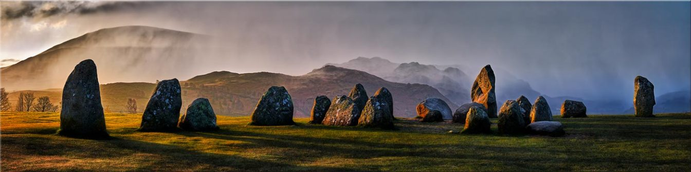 Sunlight and Showers at Castlerigg - Canvas Prints