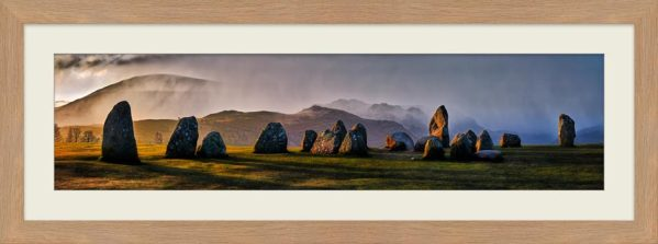 Sunlight and Showers at Castlerigg - Framed Print with Mount