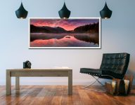 Thirlmere Autumn Sunrise - White Maple floater frame with acrylic glazing on Wall