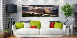 Darkness and Light Over Derwent Water - 3 Panel Canvas on Wall
