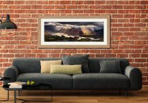 Darkness and Light Over Derwent Water - Framed Print with Mount on Wall