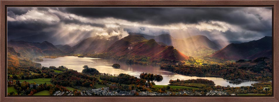 Darkness and Light Over Derwent Water - Modern Print