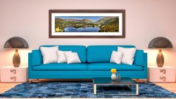 Grasmere Summer Panorama - Framed Print with Mount on Wall
