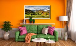 Green Fields of Martindale - White Maple floater frame with acrylic glazing on Wall