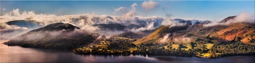 Ullswater Clouds and Mists - Canvas Prints