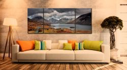 Wast Water Mountains - 3 Panel Wide Mid Canvas on Wall