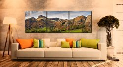 Harrison Stickle to Blea Rigg - 3 Panel Canvas on Wall