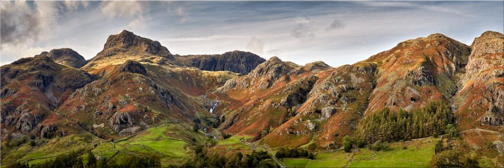 Harrison Stickle to Blea Rigg - Canvas Print