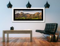 Harrison Stickle to Blea Rigg - Framed Print with Mount on Wall