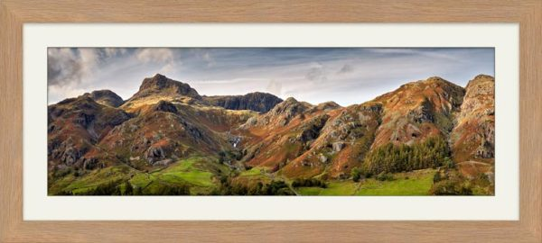 Harrison Stickle to Blea Rigg - Framed Print with Mount