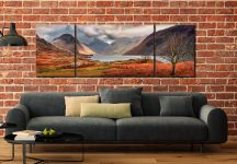 Autumn Ends at Wast Water - 3 Panel Wide Mid Canvas on Wall