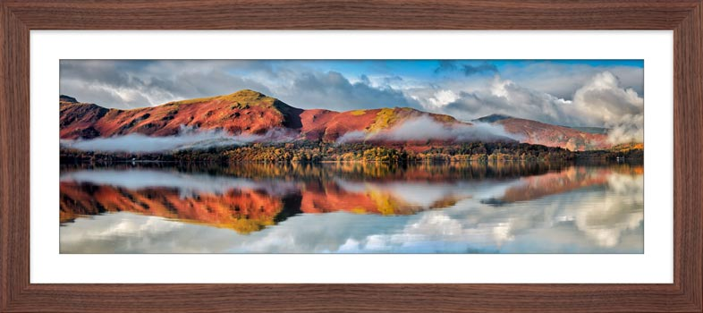 Cat Bells Autumn Mists - Framed Print
