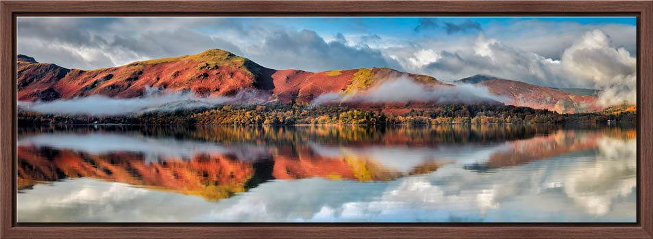 Cat Bells Autumn Mists - Modern Print