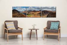 Fleethwith to High Crag - 3 Panel Canvas on Wall