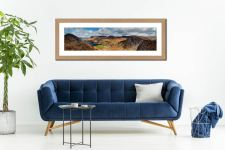 Fleethwith to High Crag - Framed Print with Mount on Wall